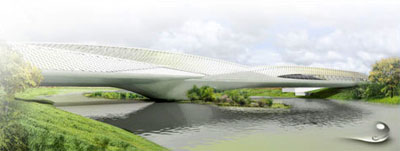 bridge pavilion - Expo Zaragoza new bridge pavilion by Zaha Hadid