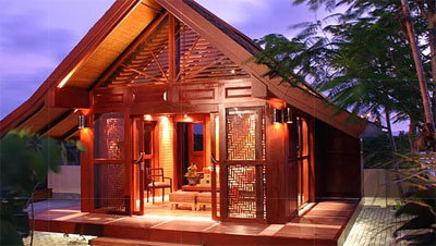 Prefab cabin bali style by tomahouse prefab cabins for Bali style homes to build