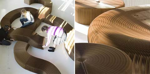 Paper lounge furniture by Molo Design