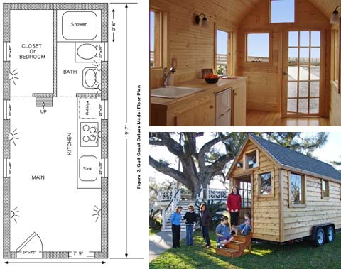 Small portable house to go small houses travel trailers for Portable home designs