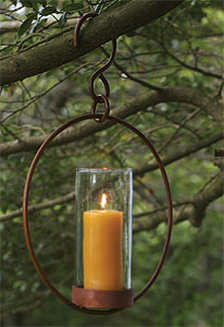 hanging hoop candle holder - Hanging Hoop Candle Holder