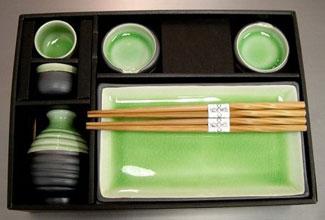 Japanese Sushi and Sake Set - Table Setting & Serving