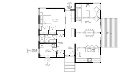 Pictures of ranch house additions joy studio design for Cabin addition floor plans
