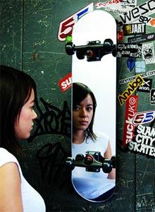 glass skate mirror 2 - Glass skate mirror