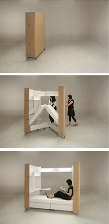 Furniture For Tiny Houses Interiors : Small house folding interior - Furniture, Small Spaces
