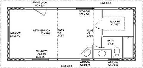 Master Bedroom Suite Plans Small Home Oregon