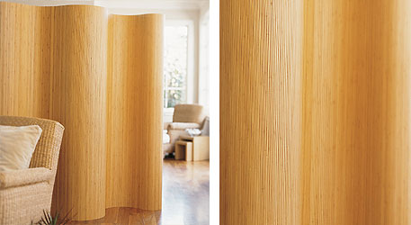 Bamboo Screen Room Divider: Curvaceous
