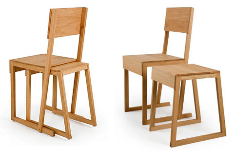 unique wood chair. Wood Chair And Stool Unique D