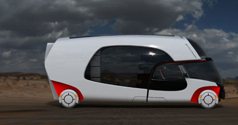 Luxury Car With Solar Panel Roof