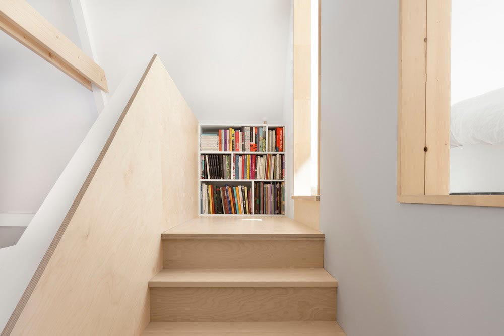 a frame house stairs design - The A Frame Project