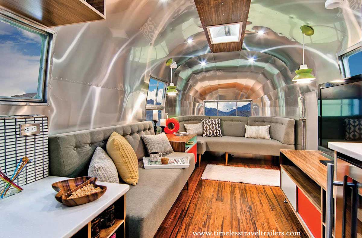 Amazing airstream restoration by timeless travel trailers Tour bus interior design