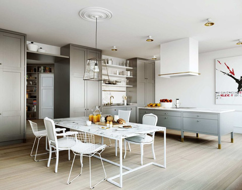 Karlavagen residence a luxurious mixture in the heart of for Suspension cuisine ikea