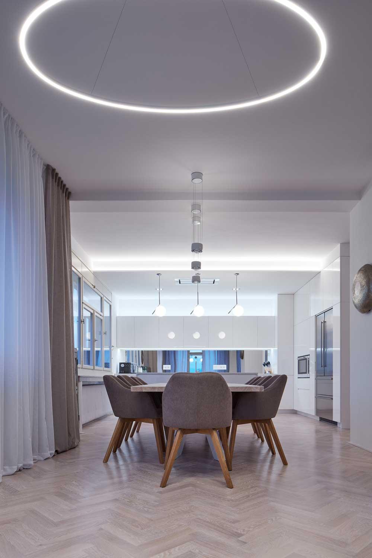 Apartment interior dining room design