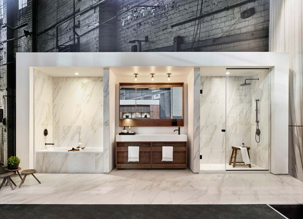 art deco industrial interiors bathroom - Waterworks
