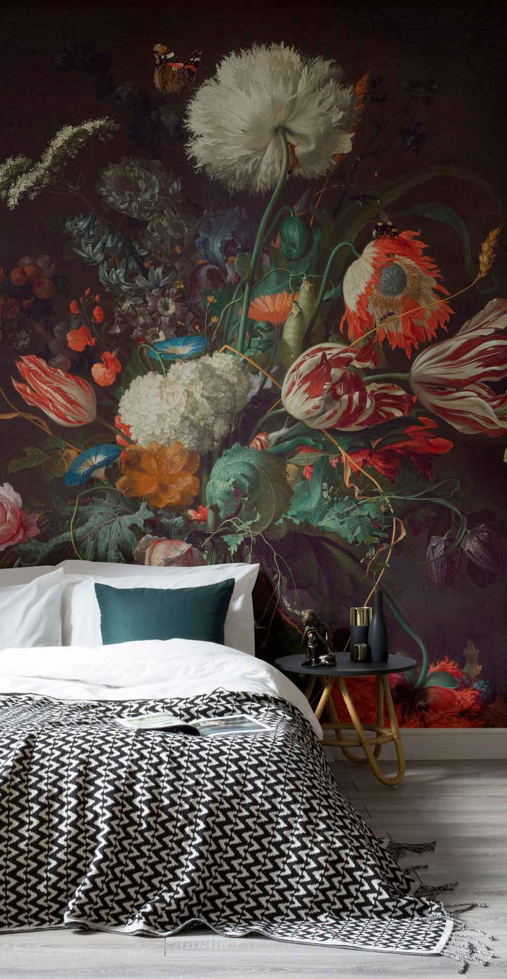 Art Mural vase of Flowers by de Heem