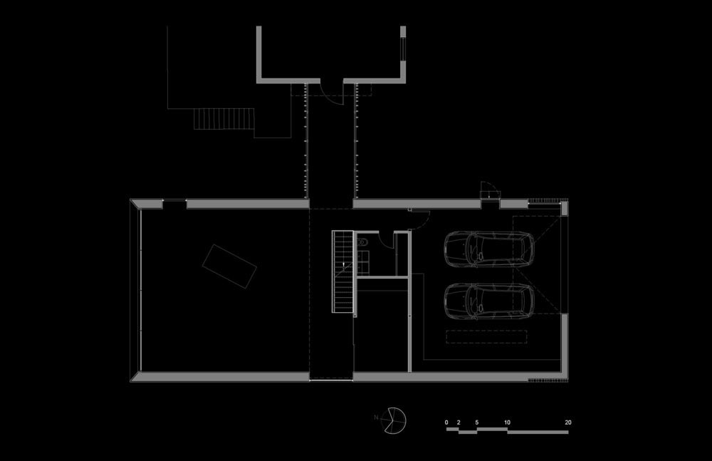 artist studio addition plan - Workshop on a Cliff Addition