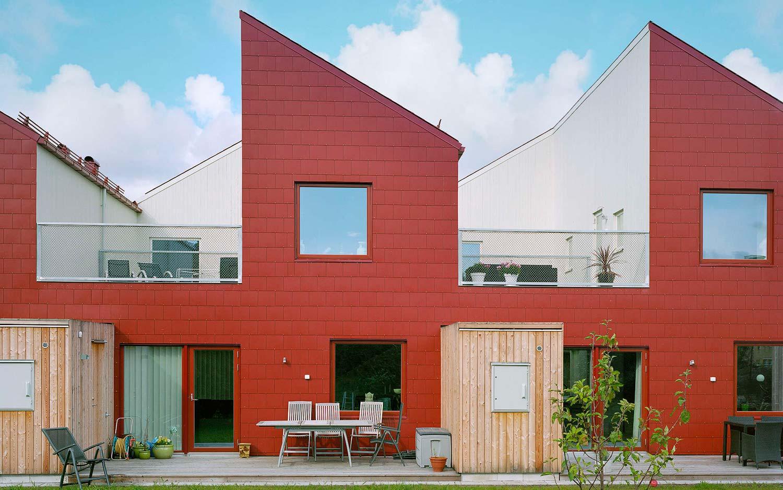 Appeltradgarden atrium townhouse modern architecture for Residential atrium