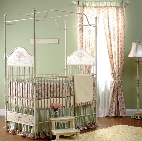 Corsican cribs a fairytale dream kids for Baby girl canopy cribs