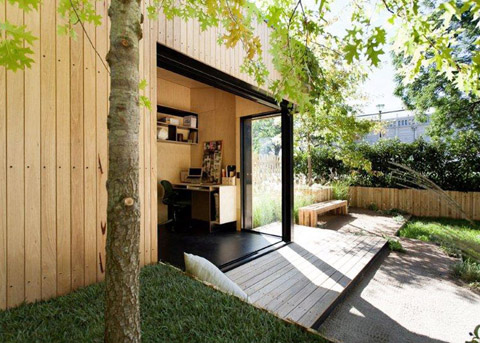 Backyard room simply pre fabulous prefab shed for Prefab garden room