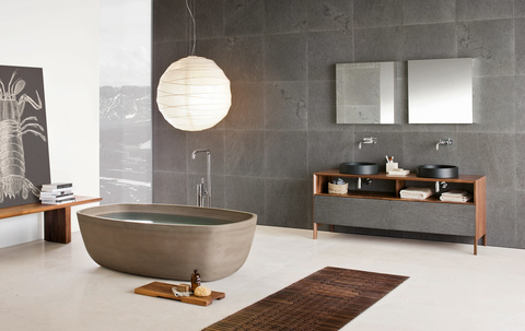 High Quality Inkstone By Italian Neutra: Heavenly Bathrooms
