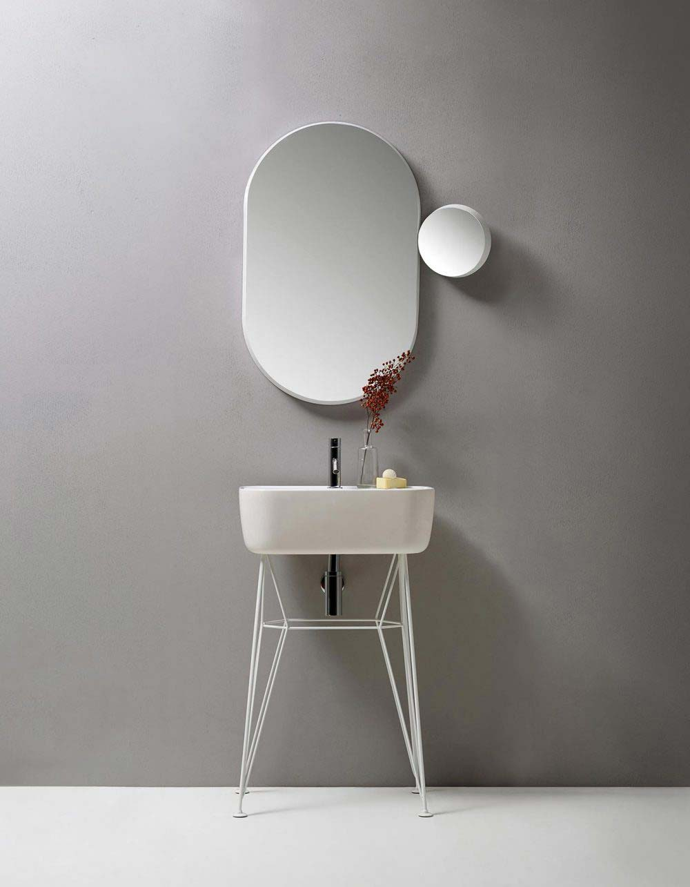 Bathroom Mirror Design - Gravity by Samuel Wilkinson
