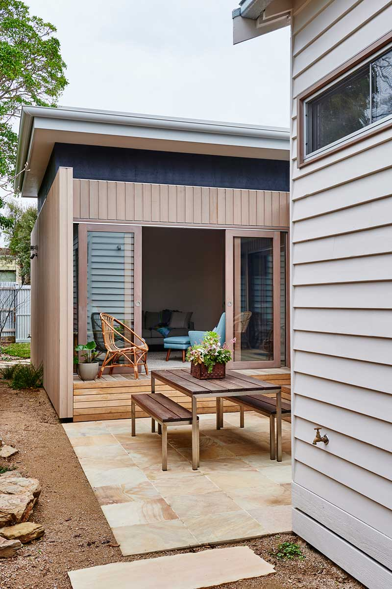 beach cottage extension design side ima2 - Not So Shabby Shack