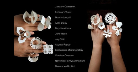 birth-flower-paper-rings