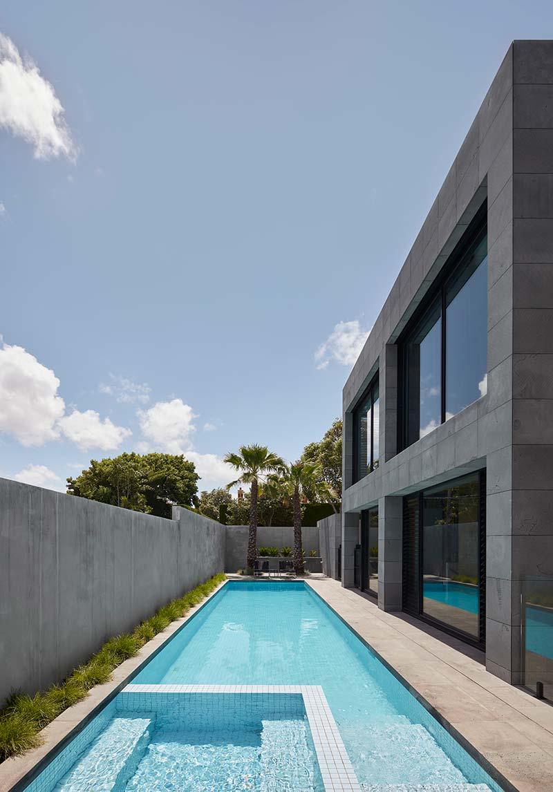 bluestone home design pool - The Quarry House