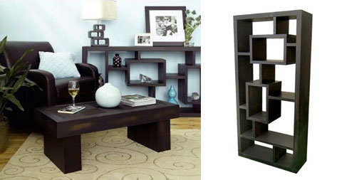 Exotic Bookcase Room Divider