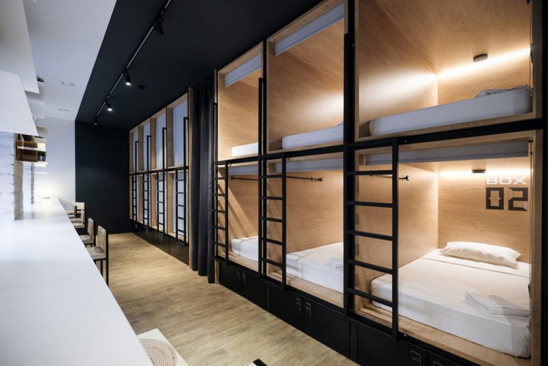 Cozy capsule boutique hotel in saint petersburg russia for Design boutique hotels tokyo