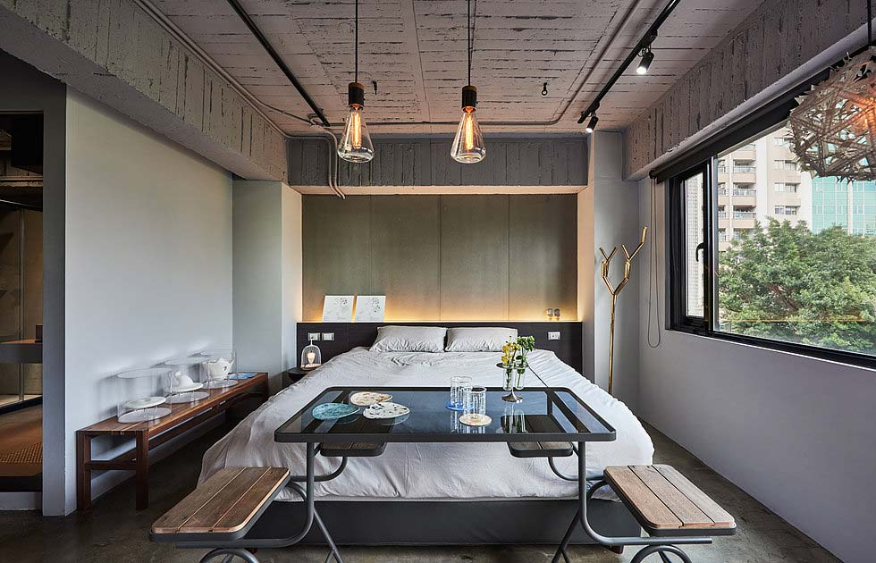 Boutique hotel bedroom design