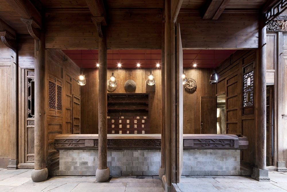 boutique hotel china skywells reception - Wuyuan Skywells Hotel