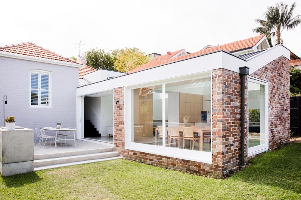 brick home extension design exterior jl - Nat's House