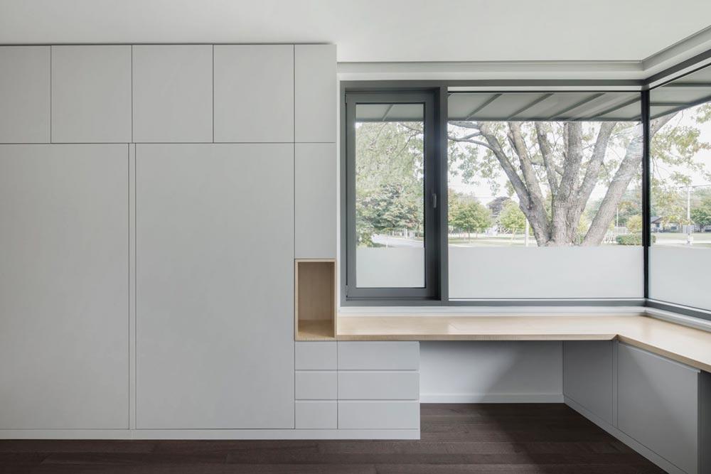 built in desk storage - Prairie House