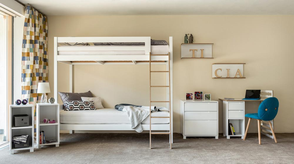 bunk bed desk storage - TICIA The Growing Bed