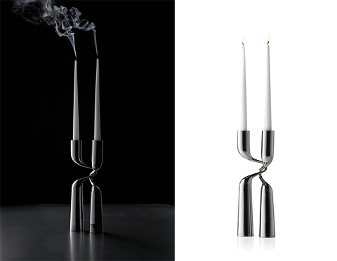 candleholder double - XL Double Candleholder