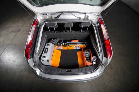 Car trunk organizer stayhold 3 pocket pods trunk storage stow and