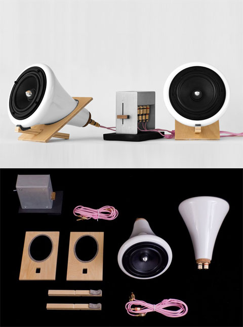 ceramic speakers joeroth - Ceramic speakers: natural sound and materials