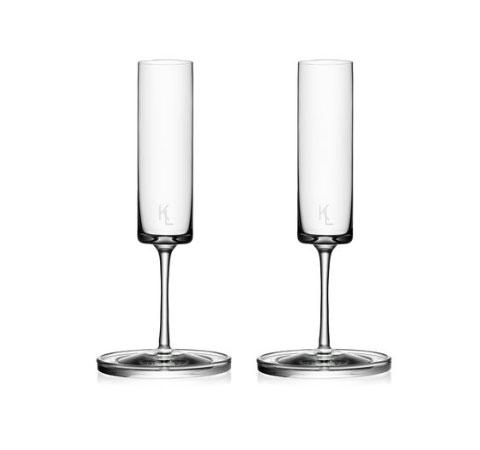 champagne flute set by karl lagerfeld glassware. Black Bedroom Furniture Sets. Home Design Ideas