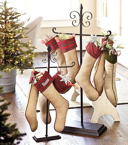 Christmas Stocking Holder: Floor And Tabletop