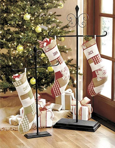 Christmas stocking holder floor and tabletop holiday decor