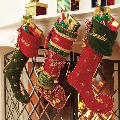 Christmas Stockings on Jingle To Your Holiday Decor With These Elegantly Trimmed Stockings