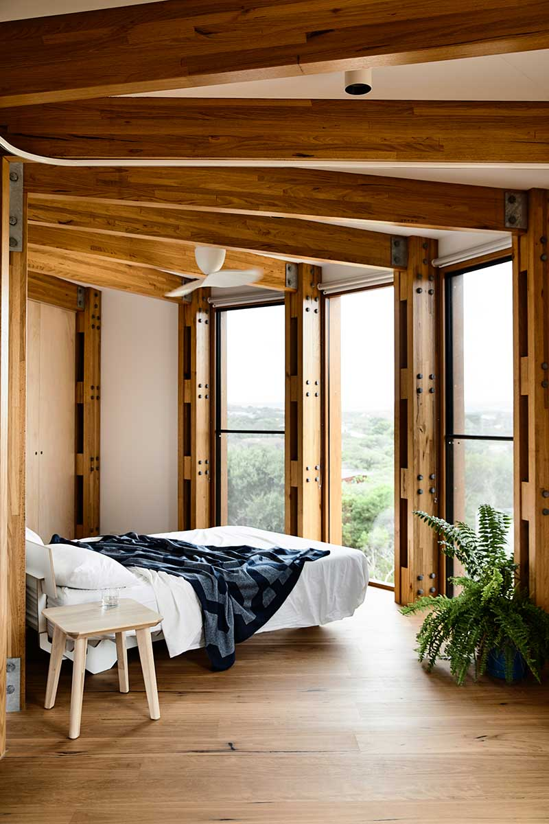 circular beach house design bedroom ama2 - St Andrews Beach House