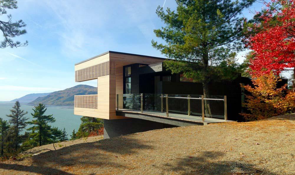 cliffside home bridge design aca - Residence Le Nid