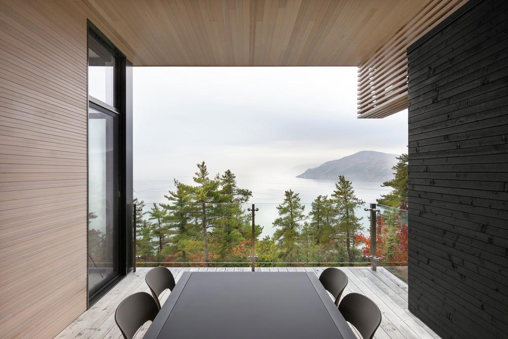 cliffside home terrace design aca - Residence Le Nid