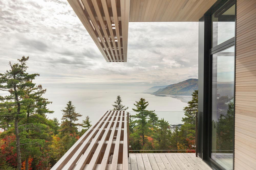 cliffside home terrace design views - Residence Le Nid