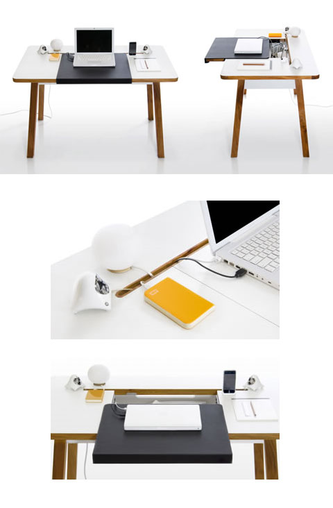 clutter free desk bluelounge 3 - Clutter Free StudioDesk: Clear Surface