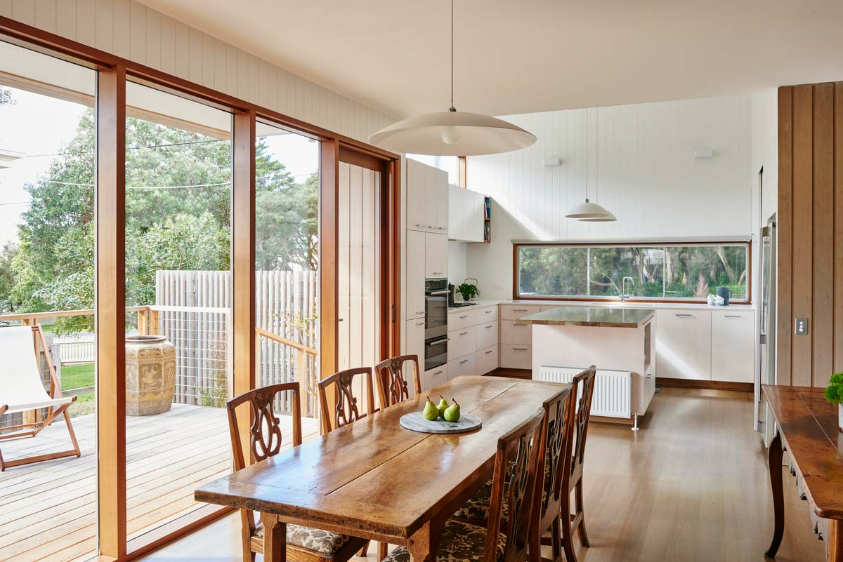coastal gable house kitchen design - Point Lonsdale