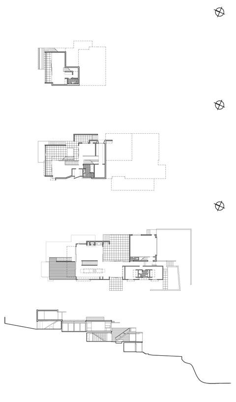 coastal home plan ns house - North Shore House: Living On A Seaside Slope