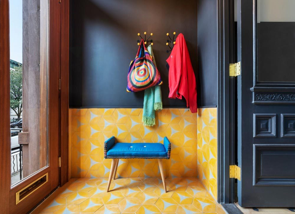 colorful interior design entry bfdo 1000x727 - Crown Heights Brownstone